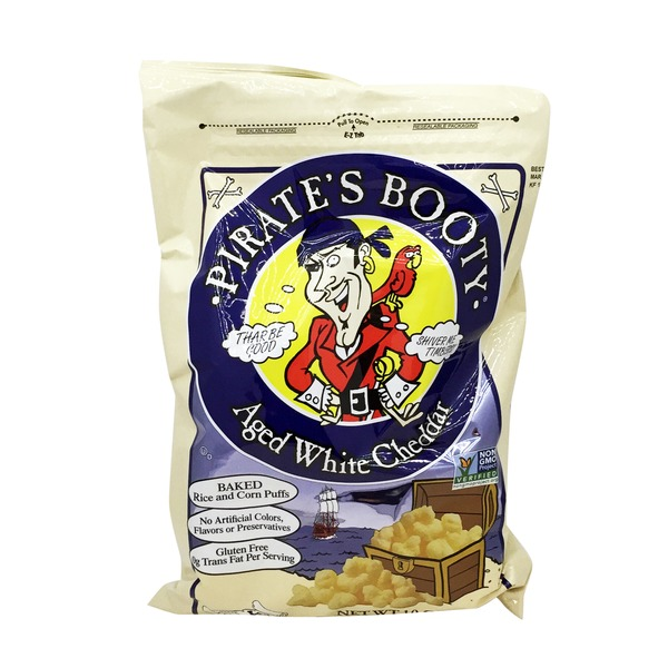 Pirate's Booty Aged White Cheddar Gluten-Free Baked Rice And Corn Puffs