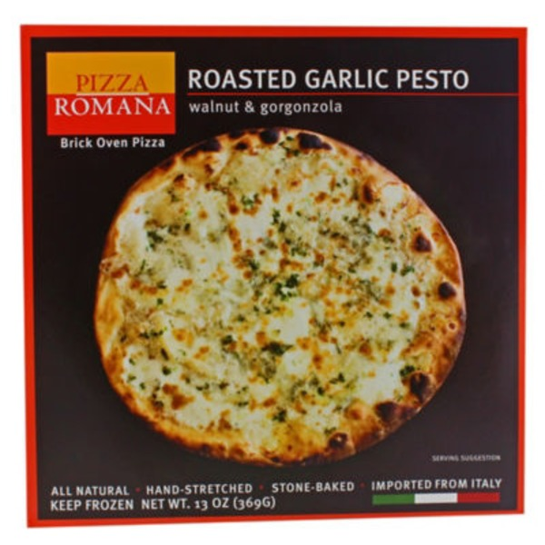 Pizza Romana Roasted Garlic Pesto Frozen Pizza