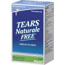 Alcon Tears Naturale II Preservative Free Vials Dry Eye Lubricant Artificial Tears