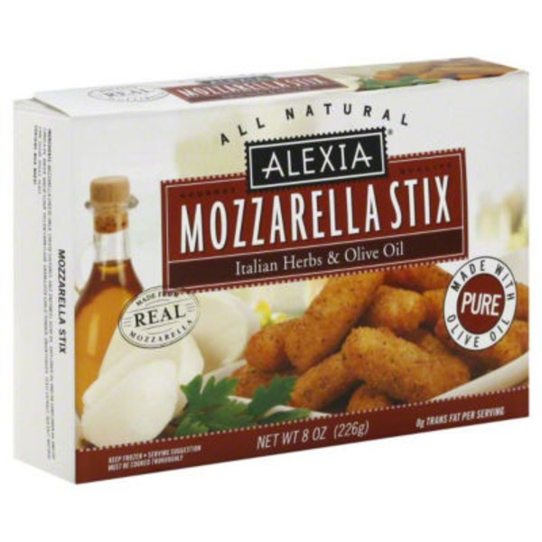 Alexia All Natural Italian Herbs & Olive Oil Mozzarella Stix