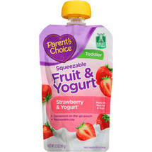 Parent's Choice Squeezable Fruit & Yogurt Strawberry & Yogurt