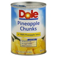 Dole Chunks In 100% Pineapple Juice Pineapple