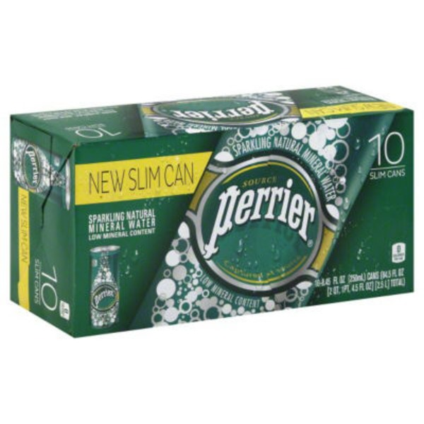 Perrier Slim Cans Sparkling Natural Mineral Water