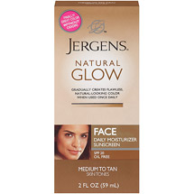 Jergens Natural Glow Healthy Complexion Daily Facial Moisturizer For Medium To Tan Skin Tones