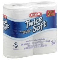 H-E-B Twice As Soft Bath Tissue Double Roll