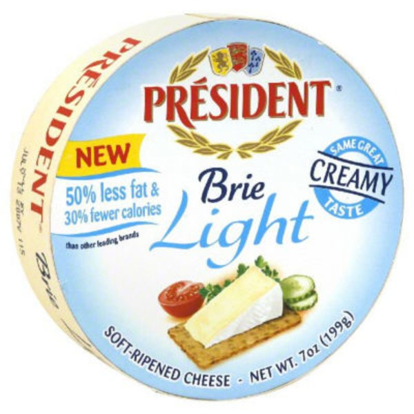 President Light Brie Soft-Ripened Cheese Mini-Wheel