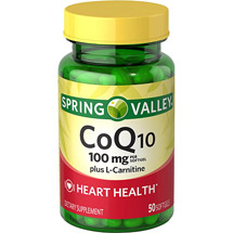 Spring Valley Co Q-10 Plus L-Carnitine Dietary Supplement Softgels