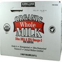 Kirkland Signature Organic Whole Milk with Omega 3