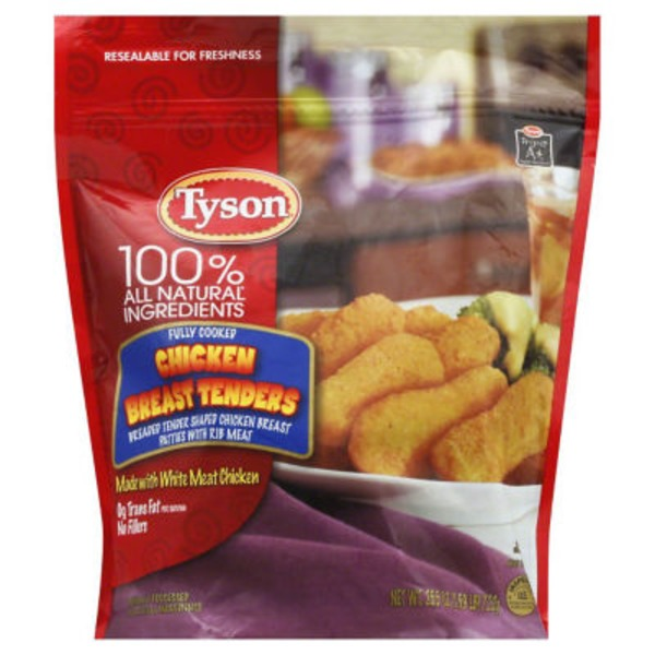 Tyson Frozen Breaded Batter Dipped Tenders Chicken Breast