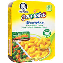 Gerber Graduates Lil Entrees Complete Meals Macaroni & Cheese