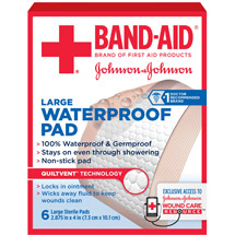 Band-Aid Sterile Waterproof Pads Large