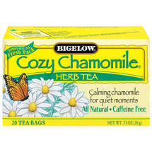 Bigelow Caffeine Free Cozy Chamomile Herbal Tea Bags