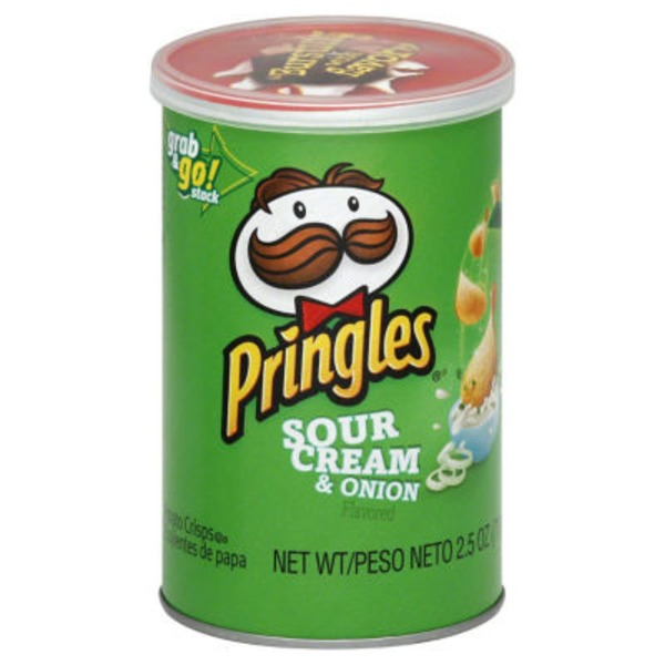 Pringles Sour Cream & Onion Flavored Potato Crisps