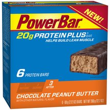 PowerBar 20g Protein Plus Chocolate Peanut Butter Bars
