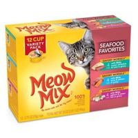 Meow Mix Savory Morsels Seafood Favorites Variety Pack Wet Cat Food