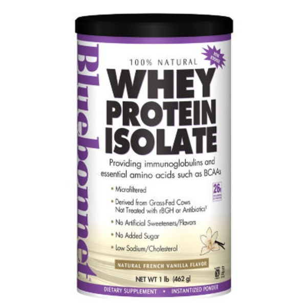 Bluebonnet All Natural Whey Protein Isolate Powder French Vanilla
