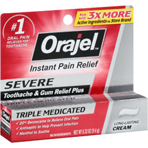 Orajel Instant Pain Relief for Severe Toothache