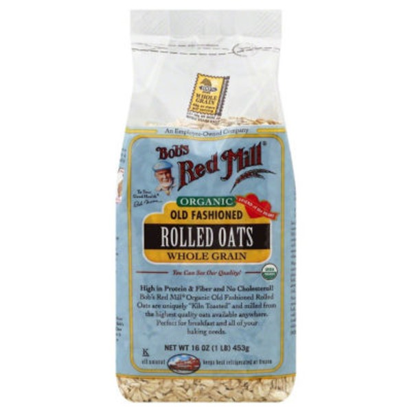 Bob's Red Mill Organic Rolled Oats Old Fashioned Whole Grain