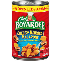 Chef Boyardee Cheesy Burger Macaroni
