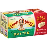 Land O'Lakes Sweet Cream Salted 8 Half Sticks Butter