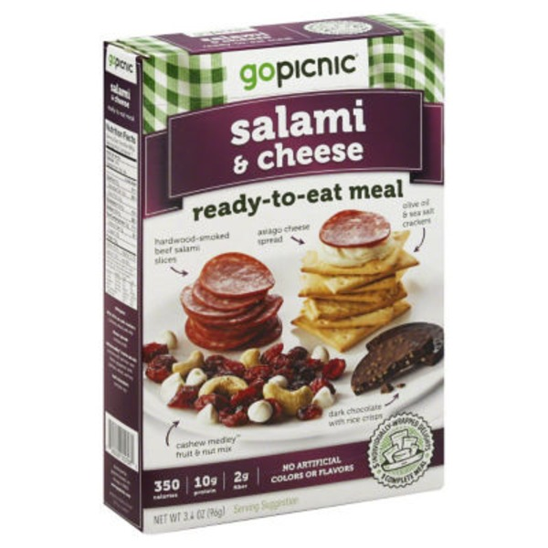 Gopicnic Ready-To-Eat Meal Salami & Cheese