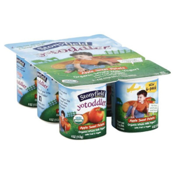 Stonyfield Organic Yotot Apple Sweet Potato Whole Milk Organic Yogurt