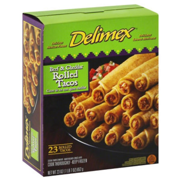 Delimex Beef & Cheddar Rolled Tacos