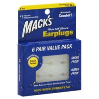 Mack's Pillow Soft Silicone Putty Earplugs - 6 PR