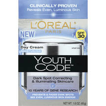 L'Oreal Paris Youth Code Dark Spot SPF 30 Day Cream Moisturizer