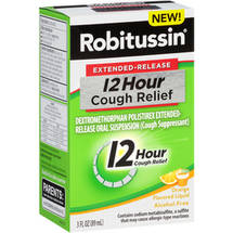 Robitussin Extended-Release 12 Hour Cough Relief Orange Cough Suppressant Liquid
