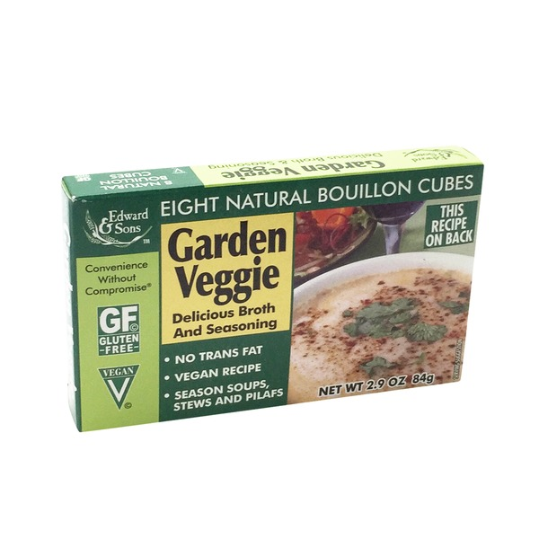 Edward & Sons Garden Veggie Natural Bouillon Cubes