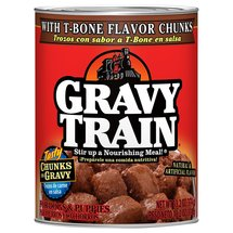 Gravy Train Chunks in Gravy with T-Bone Flavor Chunks Canned Wet Dog Food