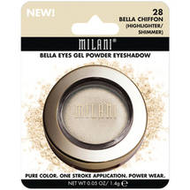 Milani Bella Eyes Gel Powder Eyeshadow 28 Bella Chiffon Highlighter/Shimmer