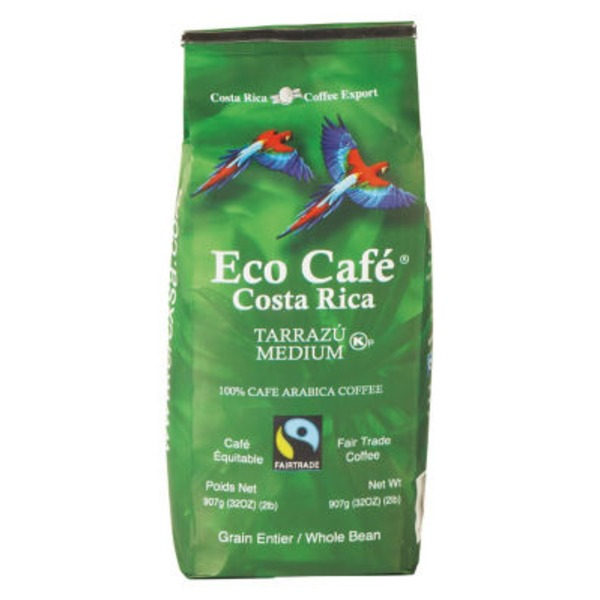 Eco Café Costa Rica Terrazu Medium Whole Bean Coffee