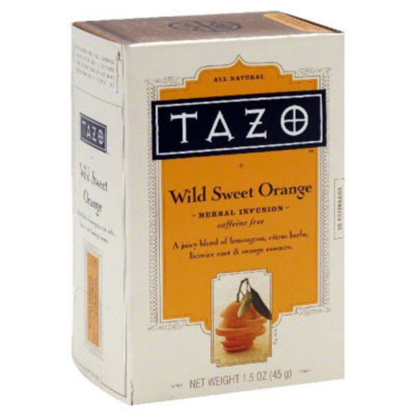 Tazo Tea Herbal Tea Wild Sweet Orange Caffeine-Free Tea Bags