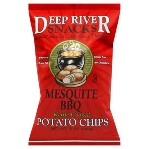 Deep River Snacks Kettle Cooked Potato Chips Mesquite BBQ