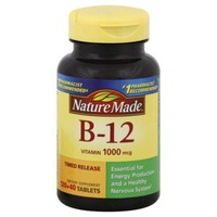 Nature Made Vitamin B-12, 1000 mcg, Timed Release Tablets