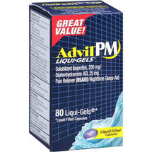 Advil PM Pain Reliever/Nighttime Sleep-Aid Liqui-Gels Liquid Filled Capsules