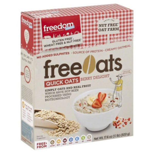 Freedom Foods Gluten Free Quick Oats Berry Delight