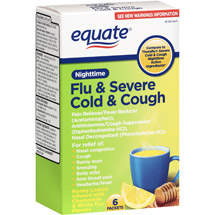 Equate Flu & Severe Cold & Cough Nighttime Pain Reliever/Fever Reducer