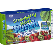 Great Value Strawberry Kiwi Flavored Juice Drink