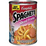 Campbell's Spaghettios Sliced Franks