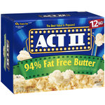 Act II 94% Fat Free Butter Popcorn