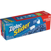 Ziploc 1 Quart Easy Zipper Multi-Purpose Storage Bags