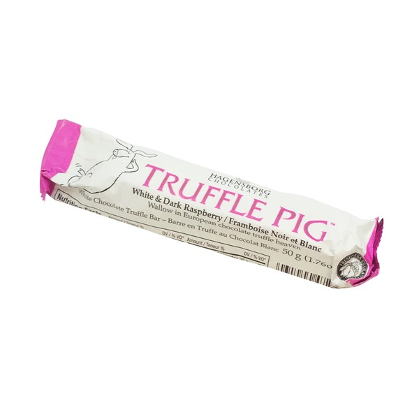 Hagensborg Truffle Pig White & Dark Chocolate Raspberry Bar