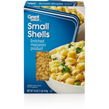 Great Value Small Shells Pasta