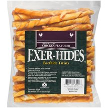Salix Exer-hides Chicken Flavored Beefhide Twists