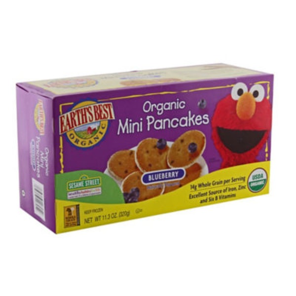 Earth's Best Sesame Street Organic Mini Blueberry Pancakes