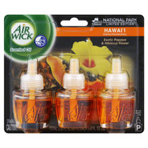 Air Wick Scented Oil Air Freshener National Park Collection Triple Pack Hawaii Exotic Papaya & Hibiscus Flower