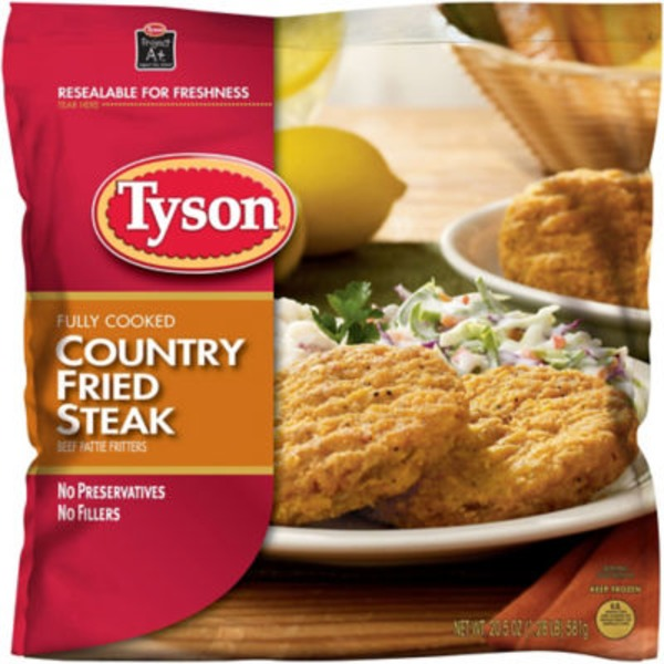 Tyson   Frozen Breaded Bagged Country Fried Steak